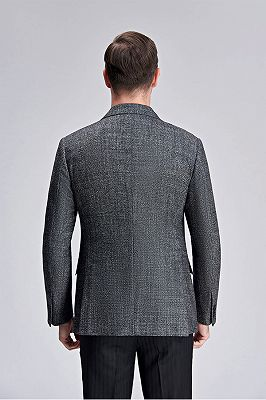 Classic Grey Blazer for Men Formal Business Jacket for Casual_4