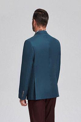 Stylish Solid Greenish Blue Blazers | Casual Suit Jacket_3