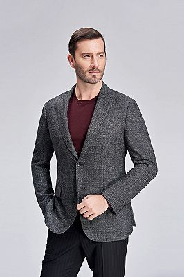 Classic Grey Blazer for Men Formal Business Jacket for Casual_3
