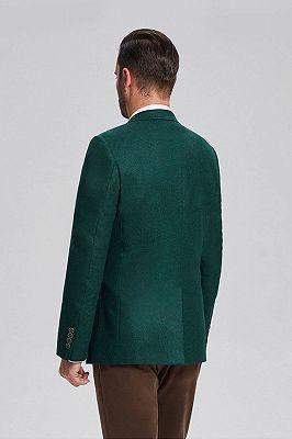 Classic Dark Green Patch Pocket Blazer Jacket for Men_3