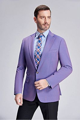 Violet Purple Tuxedo Jackets for Wedding | Three Flap Pockets New Blazer for Men_2