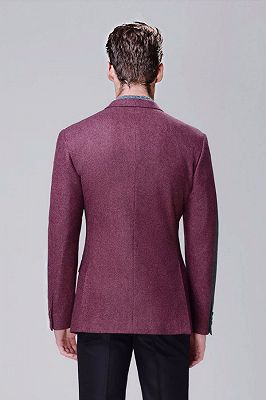 Fashionable Red Violet Business Thick Blazer Jacket for Casual_3