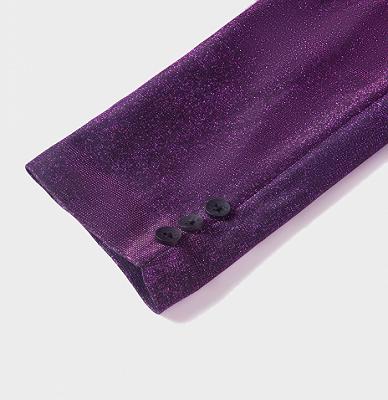 Sparkly Purple Sequins Blazer Online | One Piece Shiny Prom Suits_5