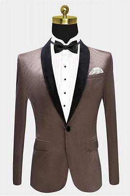 Grey Velvet Blazer Jacket for Prom | Slim Fit Casual Blazer for Men_1