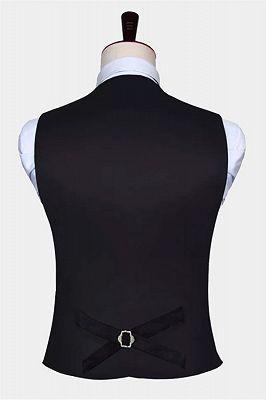 Black Paisley Mens Vest Set for Prom_2