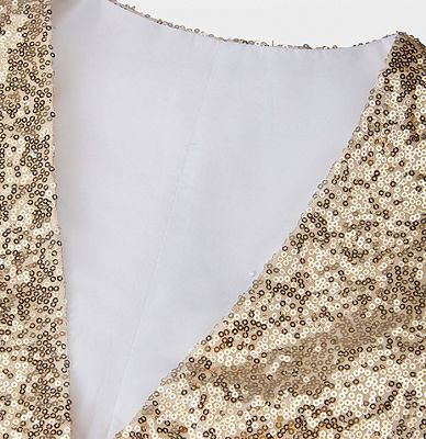 Fashion Gold Sequined Men Vest for Prom Cheap Online_3