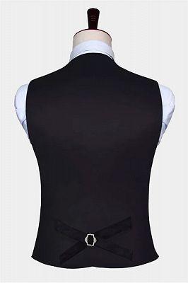Bespoke Black Silk Formal Mens Vest Online_2