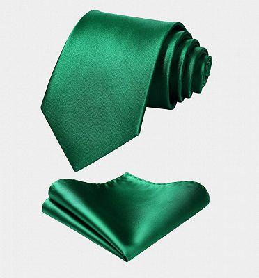 Silk Emerald Green Waistcoat And Tie Set_4