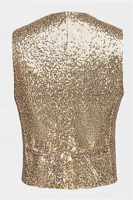Fashion Gold Sequined Men Vest for Prom Cheap Online_2