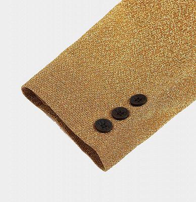 Glitter Sequin Blazer for Men | Custom Gold Men Suits for Prom_5