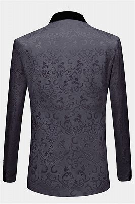 Tailored Black Jacquard Men Suits with 3 Pieces | Unique Dinner Suits for Prom_2