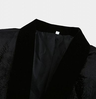 Jaime Black Velvet Dinner Jacket   Formal Business Men Suit_3