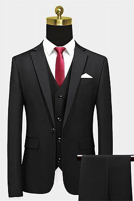 Modern Black Formal Men Suits | Business Three Pieces Slim Tuxedo Online_1