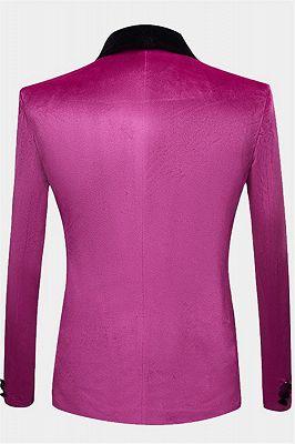 Magenta Pink Velvet Tuxedo Jacket | One Piece Blazer for Men_2