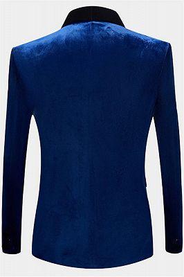 Blue Velvet Blazer for Men | One Piece Shawl Lapel Tuxedo_2