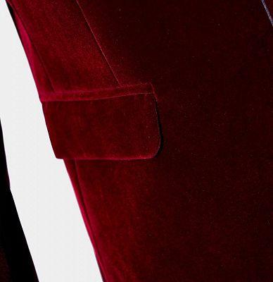 Burgundy Velvet Blazer Jacket | Two Pieces Shawl Lapel Men Suits_5