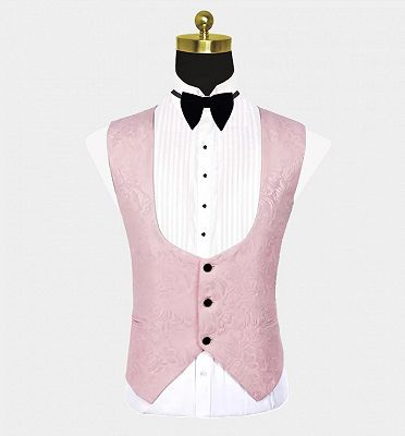 Unique Pink Jacquard Tuxedo Online | Tailored Prom Suits for Guys_3