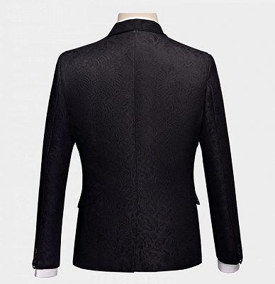Business Black Men Suits | Formal Three Pieces Jacquard Wedding Suits_2