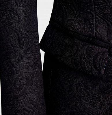 Business Black Men Suits | Formal Three Pieces Jacquard Wedding Suits_5