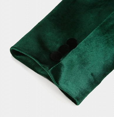 Green Velvet Tuxedo Jackets | Declan One Piece Prom Suits_4