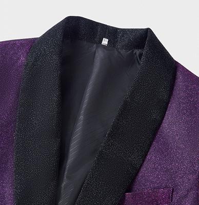 Sparkly Purple Sequins Blazer Online | One Piece Shiny Prom Suits_3