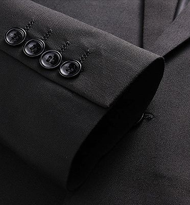 Modern Black Formal Men Suits | Business Three Pieces Slim Tuxedo Online_5
