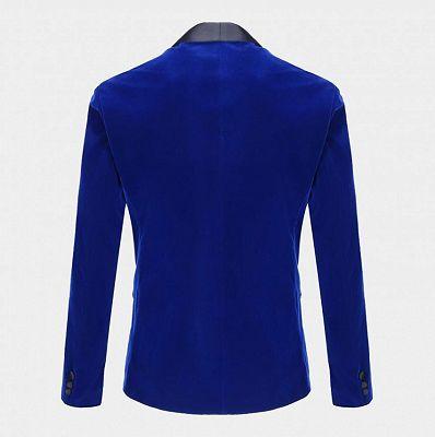 Royal Blue Velvet Tuxedo Jacket | Shawl Lapel Prom Suits Online_2