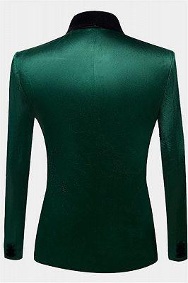 Green Velvet Tuxedo Jackets | Declan One Piece Prom Suits_2