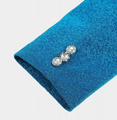 Glitter Baby Blue Peak Lapel Blazer | Unique Sequin Men Suits Cheap Online_5