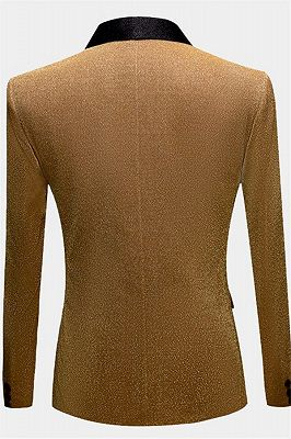Glitter Sequin Blazer for Men | Custom Gold Men Suits for Prom_2