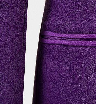 Vintage Jacquare Violet Men Suits | 3 Pieces Prom Suits_5