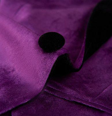 Simple Purple Velvet Men Suit | One Piece Mens Slim Suits_4