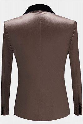 Grey Velvet Blazer Jacket for Prom | Slim Fit Casual Blazer for Men_2