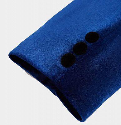 Blue Velvet Blazer for Men | One Piece Shawl Lapel Tuxedo_4