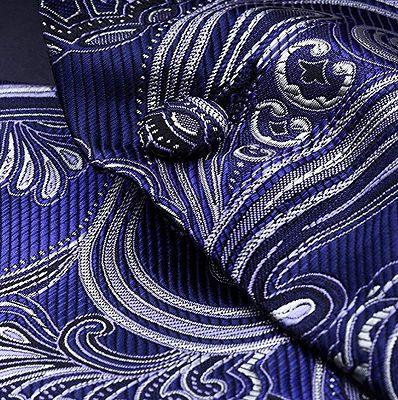 Fashion Cobalt Blue Paisley Prom Mens Vest Online_5