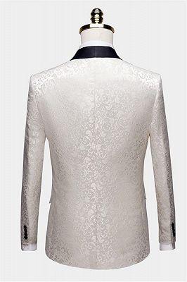 White Jacqard Wedding Men Suits | Slim Fit Dinner Blazer_2