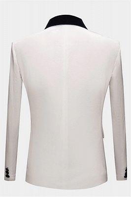 White Velvet Blazer Jacket | Formal Business Slim Fit Dinner Suits_2