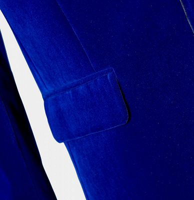 Royal Blue Velvet Tuxedo Jacket | Shawl Lapel Prom Suits Online_3