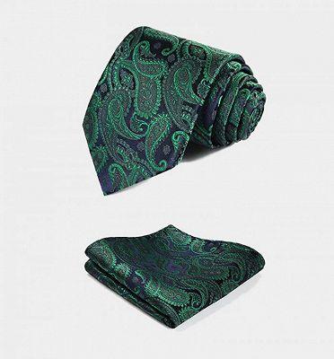 Dark Green Paisley Vest Set for Sale Online_4