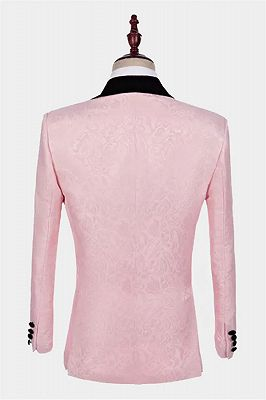 Unique Pink Jacquard Tuxedo Online | Tailored Prom Suits for Guys_2