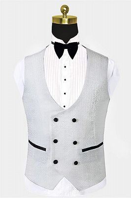 White Vintage Dinner Suits | Print Floral Custom Tuxedo for Men_2