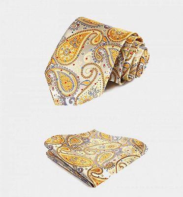 Cheap Gold Paisley Mens Dress Vest Set_4