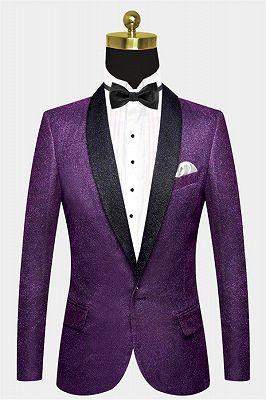 Sparkly Purple Sequins Blazer Online | One Piece Shiny Prom Suits_1