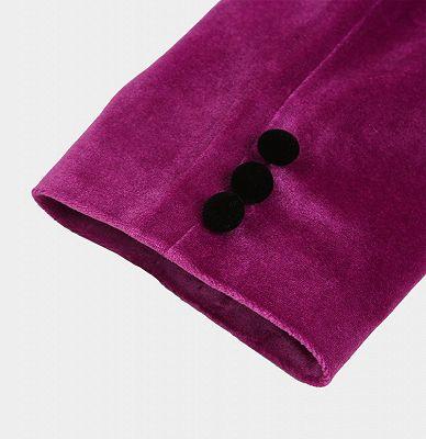 Magenta Pink Velvet Tuxedo Jacket | One Piece Blazer for Men_5