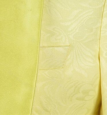 Tailored Yellow Jacquard Men Suits | Three Pieces Shawl Lapel Tuxedo_4