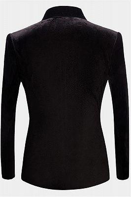 Jaime Black Velvet Dinner Jacket   Formal Business Men Suit_2