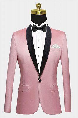 Light Pink Velvet Prom Suits for Men | Modern Mens Slim Fit Blazers_1
