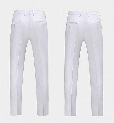 Formal White Business Men Suits with Three Pieces | Peak Lapel Custom Suit Online_3