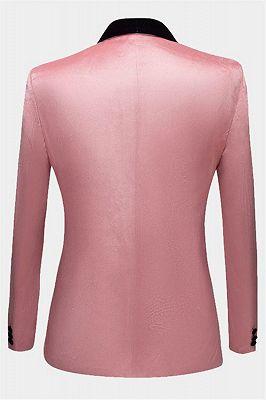 Light Pink Velvet Prom Suits for Men | Modern Mens Slim Fit Blazers_2