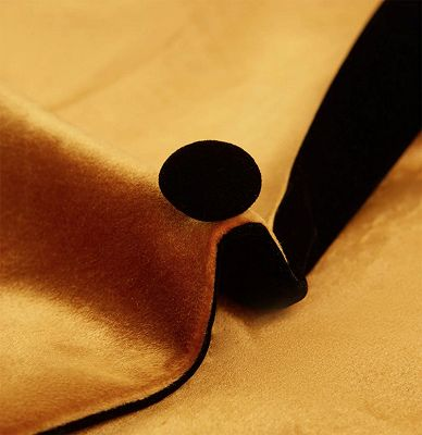Gold Velvet Tuxedo Jacket with One Button | Classic Suit Sizes for Men_3